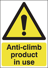 Thumbnail Anti-climb Product In Use 420x297mm 1.2mm Rigid Plastic Safety Sign