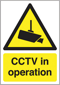 CCTV in Operation 210x148mm Self Adhesive Vinyl Safety Sign