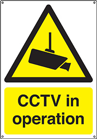 CCTV In Operation  250x200mm 0.9mm Aluminium Safety Sign