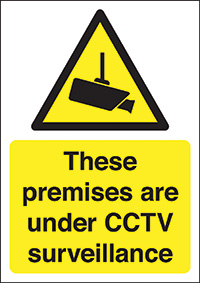 These Premieses Are Under CCTV Surveillance  600x450mm 2mm Polycarbonate Safety Sign