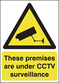 These Premises Are Under CCTV Surveillance  297x210mm 2mm Polycarbonate Safety Sign