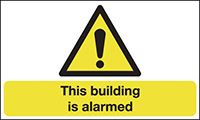 This Building Is Alarmed  300x500mm 1.2mm Rigid Plastic Safety Sign