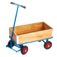 Utility Turntable Truck C/W Sides/Ends - 1500 X 700 - Pneumatic