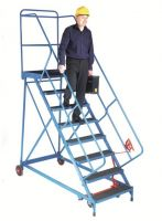 Fort Wide Tread Blue  Trojan  Mobile Step -  12 Step - Phenolic - Std Slope