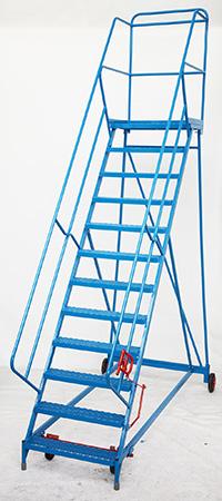 Fort Wide Tread Blue  Trojan  Mobile Step -  12 Step - Mesh - Std Slope