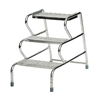 Fort Stable Steps -   - 3 Step  No Handrail  Galvanised