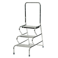 Fort Stable Steps -   - 3 Step  With Handrail  Galvanised