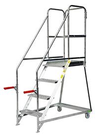 Fort Tilt  N  Push Steps - 6 Step - Galvanised - Certified to BS EN 131 Professional