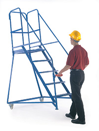 Fort Tilt  N  Push Steps - 6 Step - Painted - Certified to BS EN 131 Professional