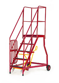 Fort Heavy Duty Vantage  Certified to BS EN 131 Professional Mobile Steps - Optional Security Gate