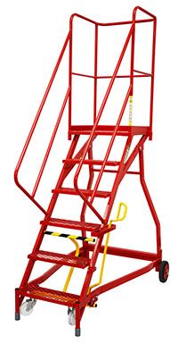 Fort Heavy Duty Vantage  Certified to BS EN 131 Professional Mobile Steps- 6 Step - Expanded Steel