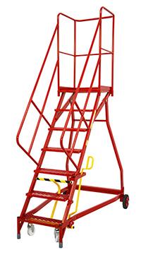 Fort Heavy Duty Vantage  Certified to BS EN 131 Professional Mobile Steps- 7 Step - Expanded Steel