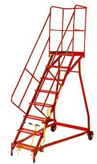 Fort Heavy Duty Vantage  Certified to BS EN 131 Professional Mobile Steps- 15 Step - Expanded Steel