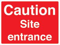 450x600mm Caution Site entrance stanchion sign