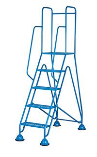 The Fort Easy Glide Range of Mobile Domed Feet Steps - 5 Tread - Mesh Treads