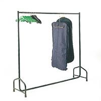 Medium Duty Garment Rails  Static  Double Bar - 1800L