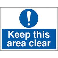 Thumbnail Keep this area clear  300x400mm 1.2mm Rigid Plastic Safety Sign