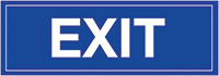 Exit  150x450mm 1.2mm Rigid Plastic Safety Sign