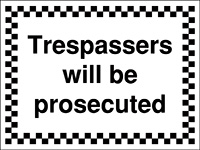Thumbnail 300x400mm Trespassers will be prosecuted - Rigid