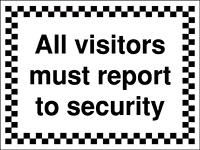 Thumbnail 300x400mm All visitors must report to security - Rigid