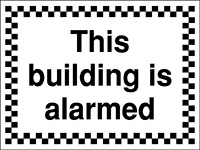 300x400mm This building is alarmed - Rigid