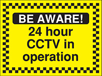 Thumbnail 450x600mm Be Aware 24 hour CCTV in operation - Rigid