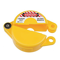 Gate Valve Lockout - 25 to 63.5mm - Yellow