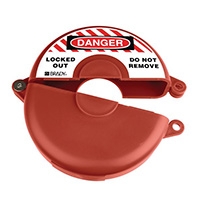 Gate Valve Lockout - 63.5 to 127mm - Red