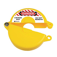 Gate Valve Lockout - 63.5 to 127mm - Yellow