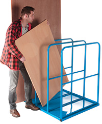 Vertical Sheet Rack - 3 Section - with Base