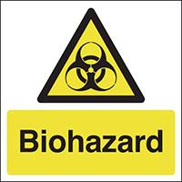 Biohazard 100x100mm 1.2mm Rigid Plastic Safety Sign