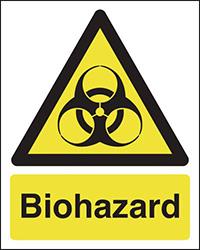 Biohazard 210x148mm 1.2mm Rigid Plastic Safety Sign