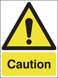 Caution 210x148mm 1.2mm Rigid Plastic Safety Sign