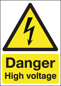 Thumbnail Danger High Voltage  420x297mm Self Adhesive Vinyl Safety Sign