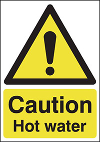 Caution Hot Surface 210x148mm 1.2mm Rigid Plastic Safety Sign