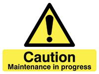 450x600mm Caution Maintenance in progress stanchion sign