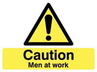 450x600mm Caution Men at work stanchion sign