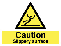 450x600mm Caution Slippery surface stanchion sign