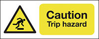 Thumbnail Caution Trip Hazard 210x148mm Self Adhesive Vinyl Safety Sign