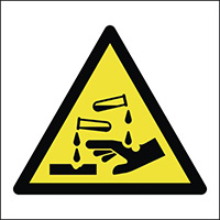 Thumbnail Corrosive Symbol 150x150mm 1.2mm Rigid Plastic Safety Sign