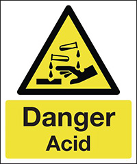 Thumbnail Danger Acid 420x297mm 1.2mm Rigid Plastic Safety Sign