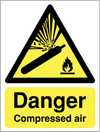 Thumbnail Danger Compressed Air 420x297mm Self Adhesive Vinyl Safety Sign