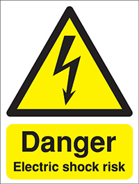 Danger Electric shock risk 400x300mm Reflective Safety Sign