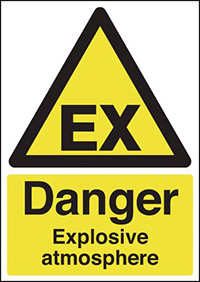 Thumbnail Danger Explosive Atmosphere 420x297mm 1.2mm Rigid Plastic Safety Sign