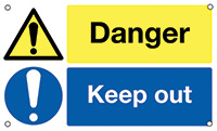 Danger Keep Out  300x500mm 0.9mm Aluminium Safety Sign
