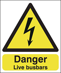 Thumbnail Danger Live Busbars   100x250mm 1.2mm Rigid Plastic Safety Sign