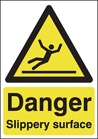 Thumbnail Danger Slippery Surface 420x297mm 1.2mm Rigid Plastic Safety Sign