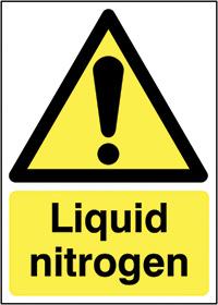 Liquid Nitrogen 210x148mm 1.2mm Rigid Plastic Safety Sign