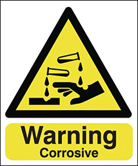 Thumbnail Warning Corrosive 210x148mm 1.2mm Rigid Plastic Safety Sign