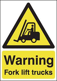 WarningForklift Trucks   400x300mm 0.9mm Aluminium Safety Sign